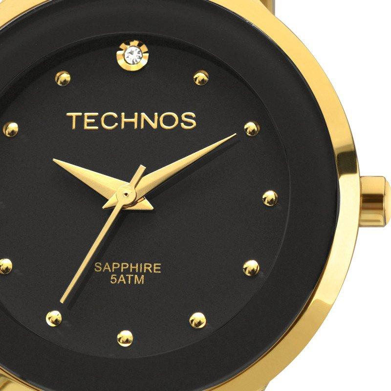 4962ac5fd53a7 Relógio Technos Elegance Ceramic Analógico Preto 2035lyw 4p - Obietto