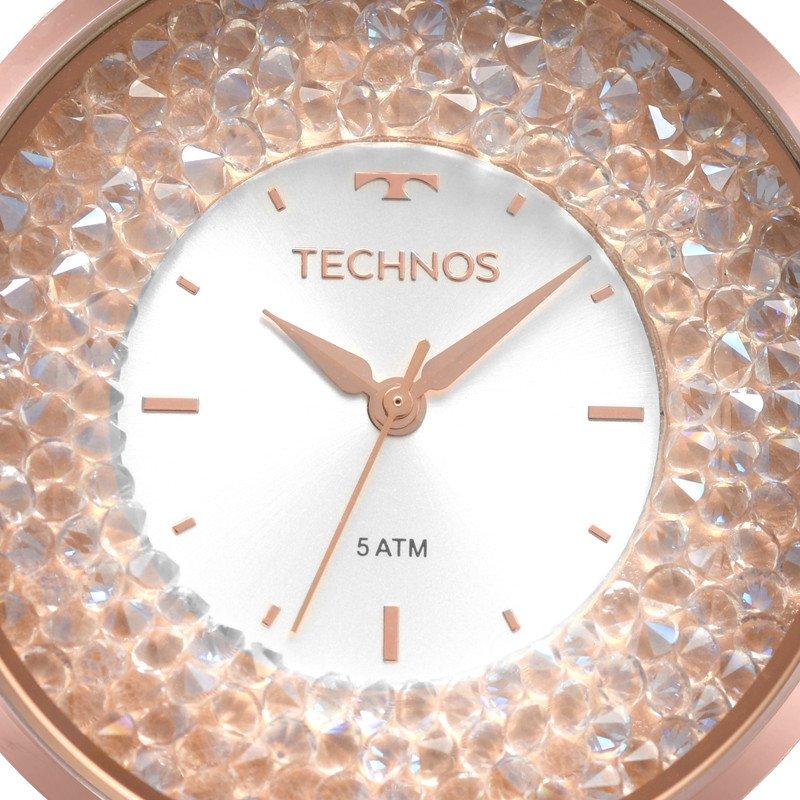 RELÓGIO TECHNOS FEMININO CRYSTAL ROSÉ 2035MQB 5K Relógios, Technos dd884feee9
